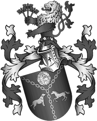 Wappen der Familie Aiglstorfer in Schwarz/Weiß